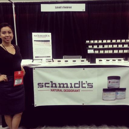 Mia Bell with Schmidt's Deodorant at San Francisco International Gift Fair