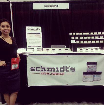 Mia Bell with Schmidt's Deodorant at San Francisco International Gift Fair
