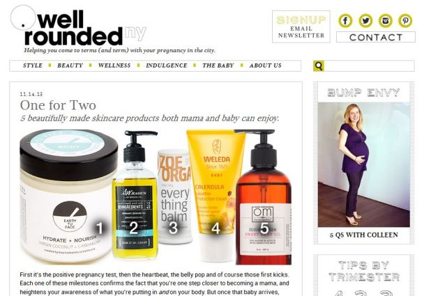 Well Rounded NY blog features Zoe Organics Everything Balm