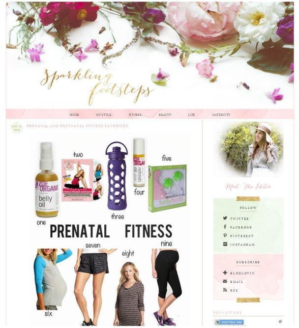 Sparkling Footsteps Prenatal Fitness Favorites Zoe Organics