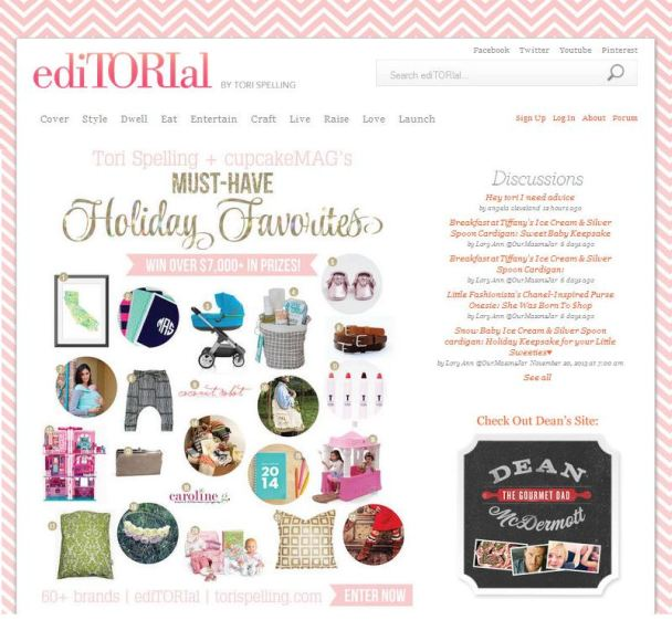 Tori Spelling Must Have Holiday Favorites Zoe Organics