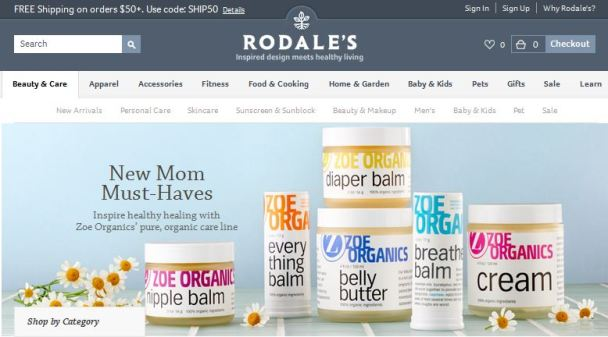 Zoe Organics now available at Rodales.com