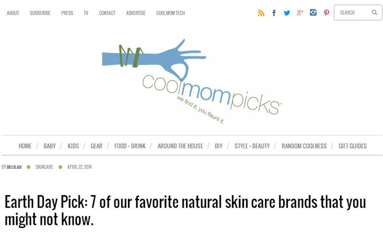 Cool Mom Picks features Zoe Organics