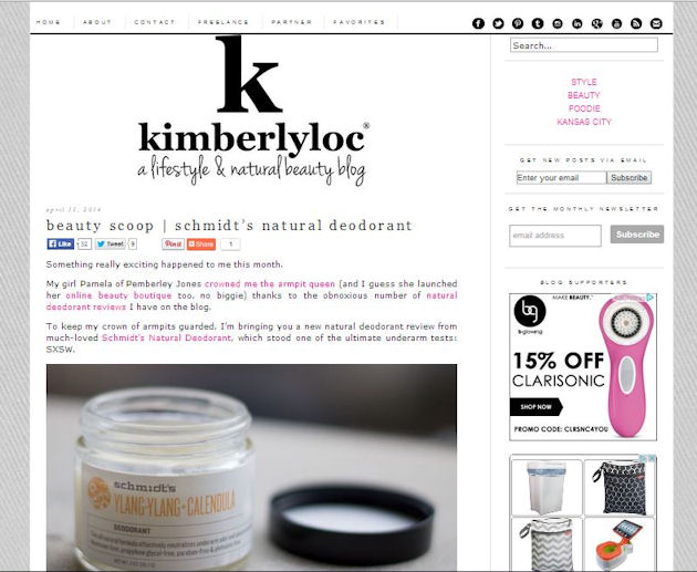 Beauty Scoop Kimberly Loc Reviews Schmidt's Deodorant