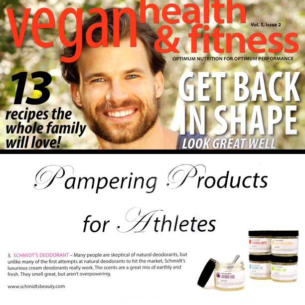 Schmidt's Deodorant featured in Vegan Health & Fitness Magazine