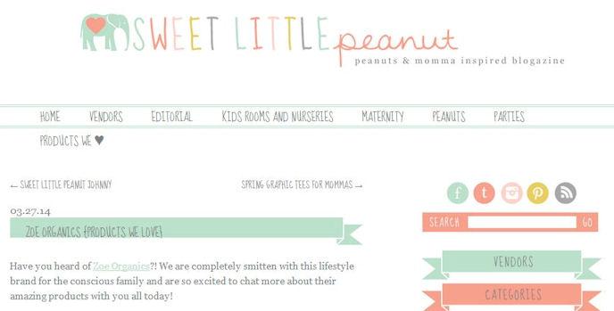 Zoe Organics Review Sweet Little Peanut